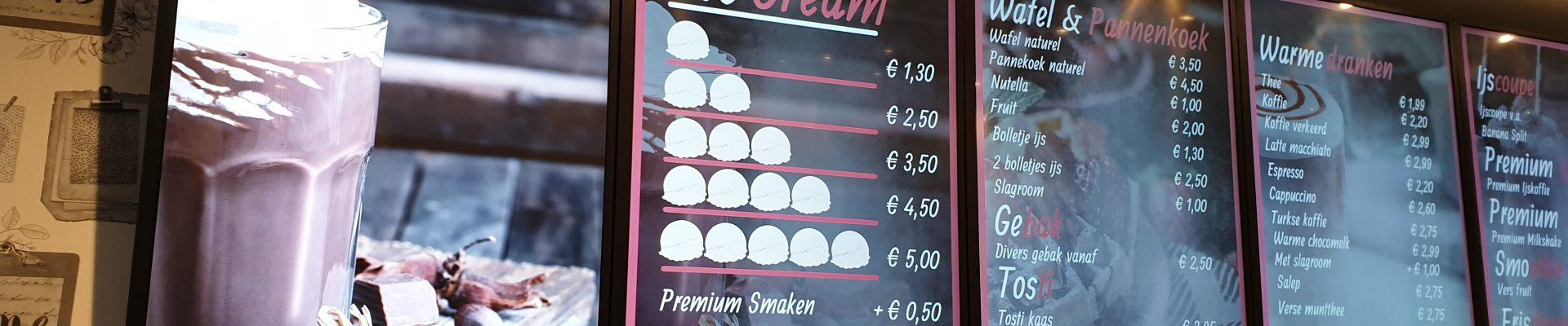 Project My Ice Cream, MENUdigitaal, BENQ, X-Sign, Software, Digital Signage,