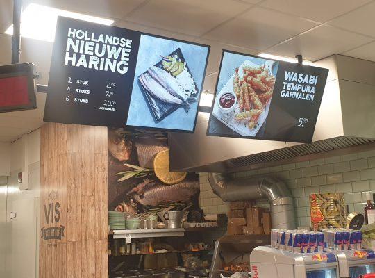 Project Vis van het Hof, Monitoren, Vlaardingen, Randstad, Digital Signaged